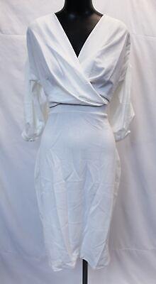 boohoo Womens Plus Taylor Off The Shoulder Wrap Midi Dress SV3 Ivory US:18 UK:22