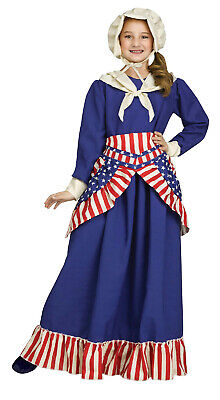 Betsy Ross Children (Girls Betsy Ross Historical American Girl Child Costume Large)