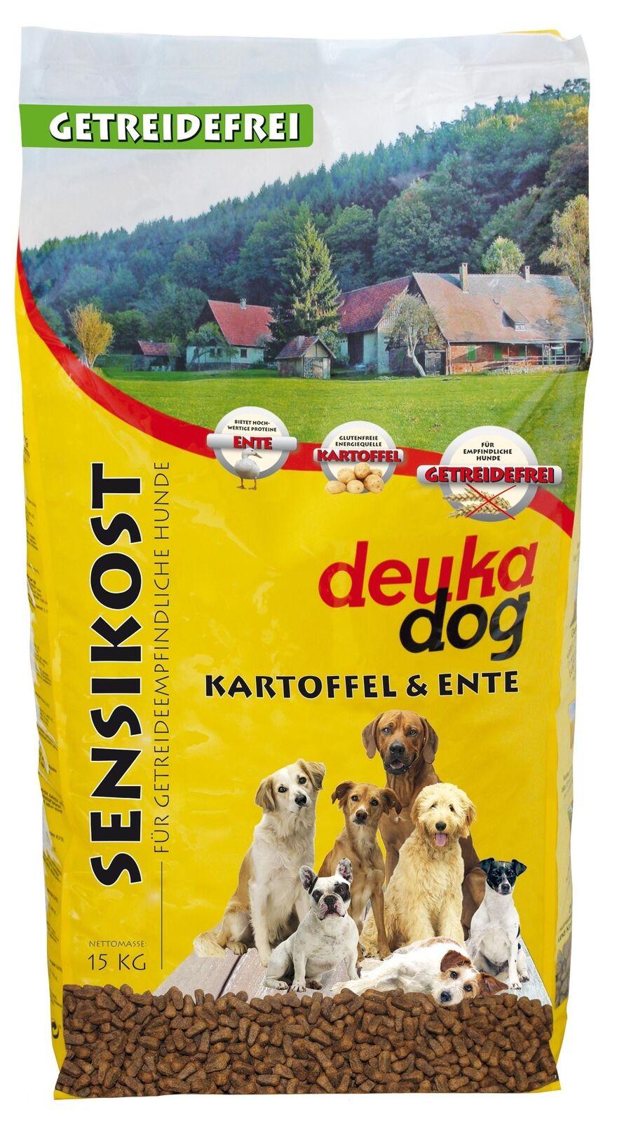 (EUR 2,39/kg) 15kg deuka dog Sensikost Ente & Kartoffel Hundefutter
