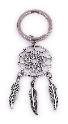 Traumfänger-schlüsselanhänger (Traumfänger Schlüsselanhänger Anhänger Silber aus Metall)