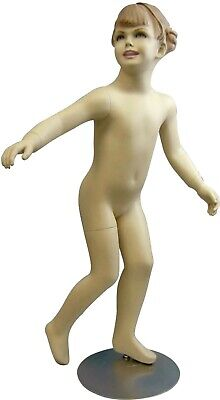 4-5 Year Old Realistic Fiberglass Child Mannequin With Molded Hair And Base