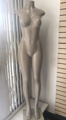 Brazilian Style Full Body Mannequin - Female - Creme Base.