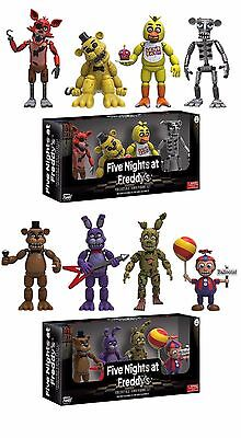 Set Of 2 Five Nights At Freddys 4 Pack 2  Mini Figure 8 Figure Total
