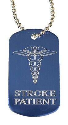 Personalizado Tiempos Paciente Alerta Médica Identificador Sos Azul Grabado Free