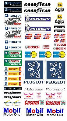 Peugeot Logo Autoaufkleber Sponsoren Marken Aufkleber Decals Tuning Sticker Set