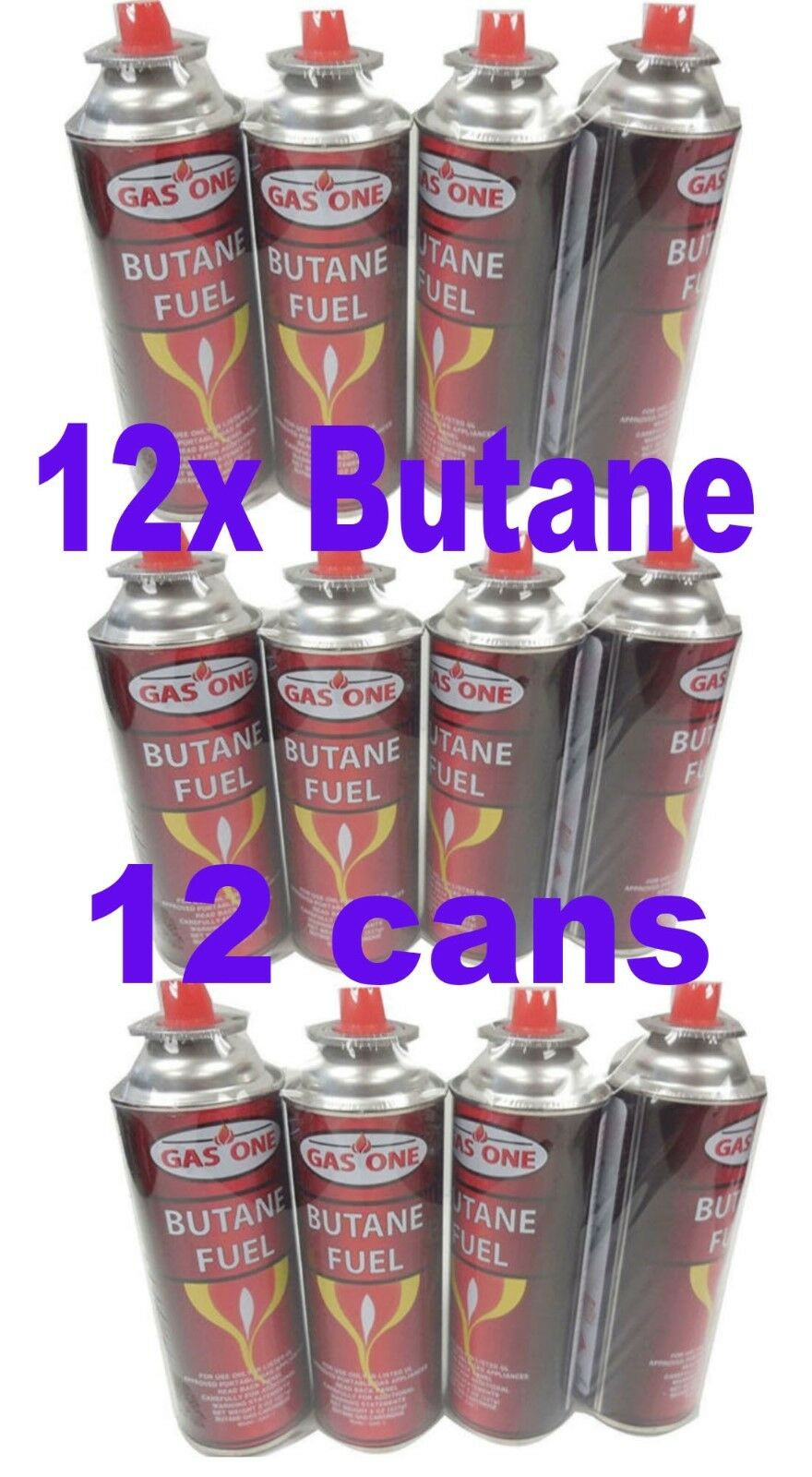 Gasone 12 Cans Butane Fuel Canisters Portable Camping Stoves