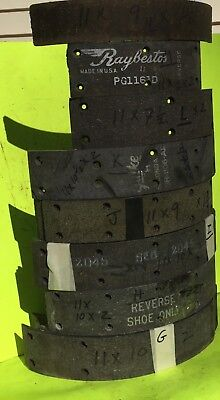 Ford, Chrysler, GM, other, brake lining.  About 11  inch drum.   Item:  8331