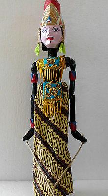 1 Holz Puppe Wayang Golek Marionette Handgefertigt auf Bali NMSG28