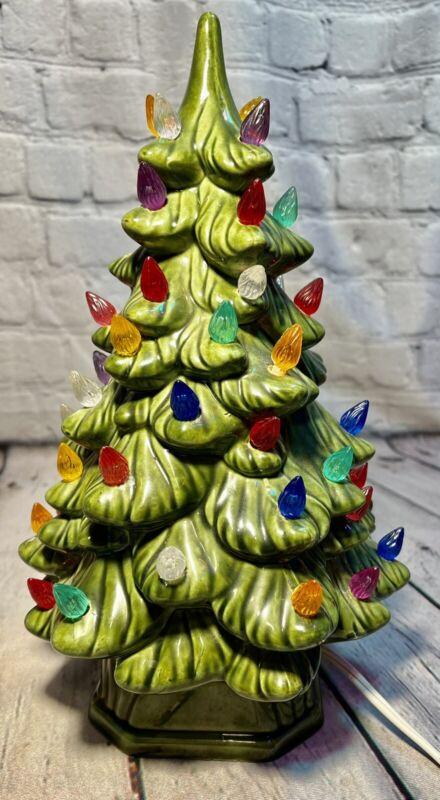Mid Century Holland Mold Ceramic Christmas Tree 1970 Vintage