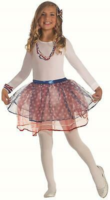 Red, White and Blue Patriotic USA Tutu Skirt 4th of July Accessory Child](Red White And Blue Tutu)