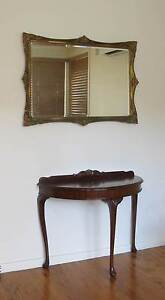 Half table, mirror, two chairs. Mount Colah Hornsby Area Preview