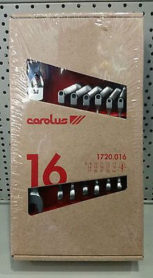 CAROLUS 16 x Maul-Gelenk-Ringratschenschlüssel-Satz 8-24mm Ringratsche 1720.016
