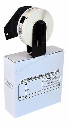 Non-oem Fits Brother Dk-1204 Labels With Permanent Frame - 1 Roll Of 400
