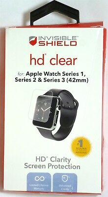 ZAGG - HD Clear Shield Screen Protector for Apple Watch 42mm - Clear for sale  Shipping to India