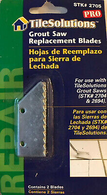 Tile Solutions 2-Pack Professional Carbide Steel Grout Saw Replacement Blades