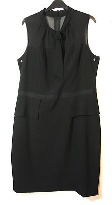 BLACK LADIES FORMAL PARTY SHIFT DRESS SIZE 14 NINE WEST SPECIAL OCASION - Special Ocasion Dresses