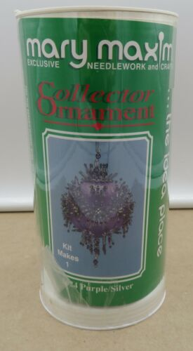 Mary Maxim Collector Ornament Kit PURPLE/SILVER #2624 Beads SEALED