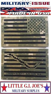NWU Type III Reverse US Flag & First Navy Jack Patch Set US Navy AOR2 Hook ISSUE