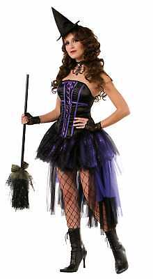 Sexy Willow Witch Halloween Costume Adult Women Dress Vampiress Black Purple](Willow Costume)
