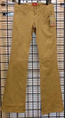 Genuine Dickies Girls Stretch Twill 5 Pocket Slim Boot Leg Pant Khaki NWT 5-pocket-slim Boot