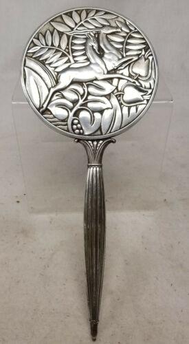 Antique Sterling Silver Hand Mirror Art Deco Wiener Werkstatte Style