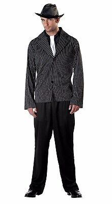 Gangster Men's 20's Pinstripe Mobster Halloween Costume Adult One Size #5500