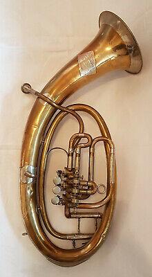 Used, V F Cerveny & Sohne rare Vintage Tenor Horn Trumpet Tuba Bugle Cornet Baritone for sale  Shipping to Canada