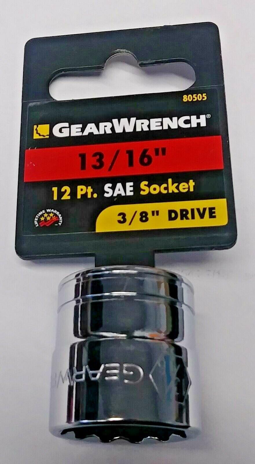"Gearwrench 80527 13mm Deep Socket 12pt 3//8/"" Drive 2pcs"