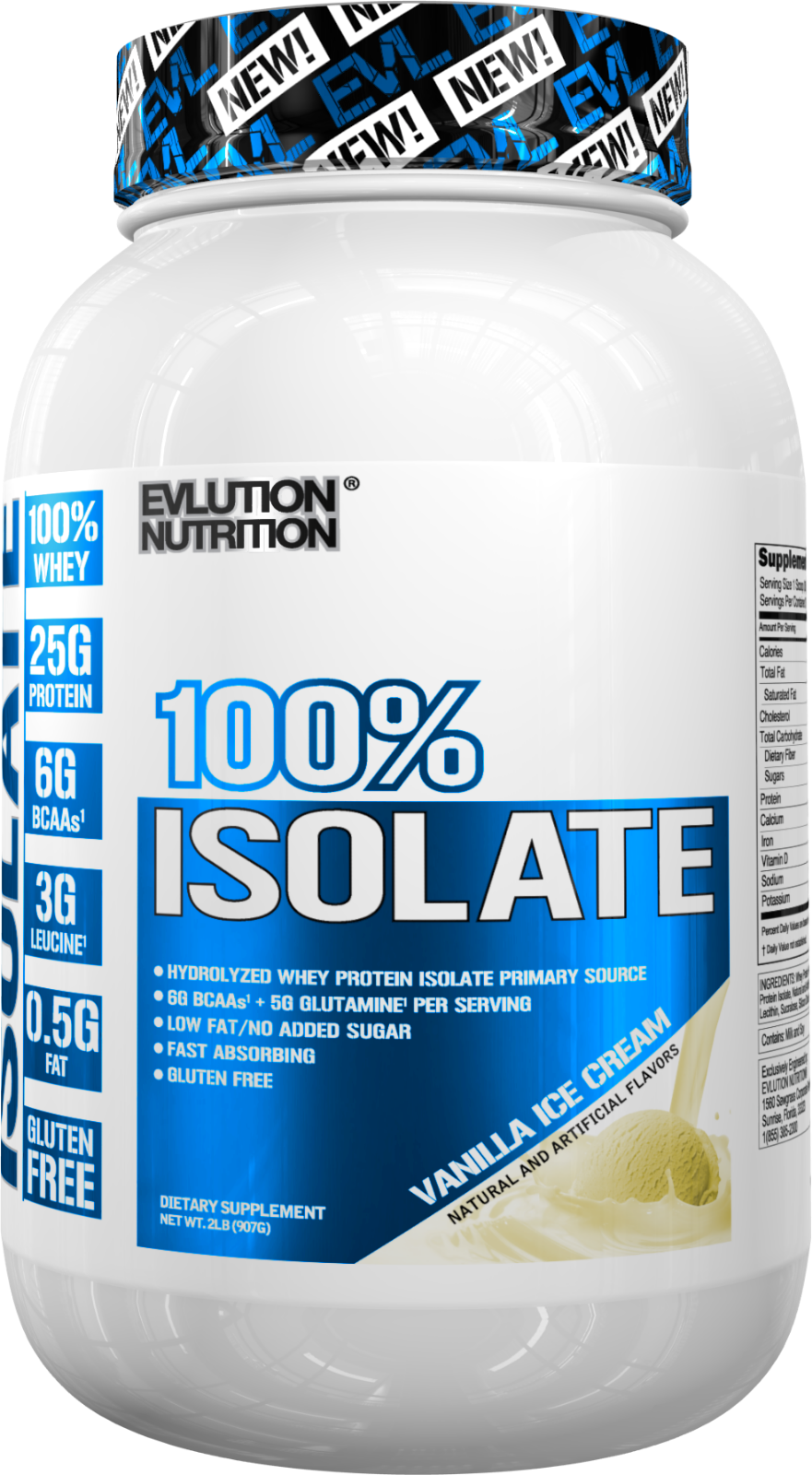 Evlution Nutrition 100% Isolate | Hydrolyzed Whey Isolate Protein Powder