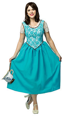 Once Upon A Time Belle Adult Women's Costume Blue Lace Bodice Fancy Dress