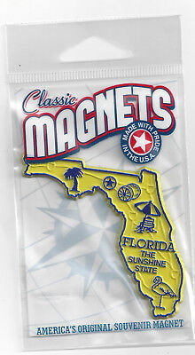 "FLORIDA  "" THE SUNSHINE  STATE""  FL  OUTLINE MAP MAGNET  in Souvenir Bag, NEW"