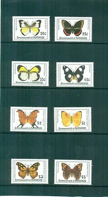 Dominica 1994 Island  Butterflies set red Rim Buckeye Sulphurs  MNH SG 1826-1835
