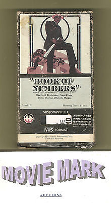 BOOK OF NUMBERS 1973 (Magnetic Video) Raymond St. Jacques Blaxploitation vhs OOP