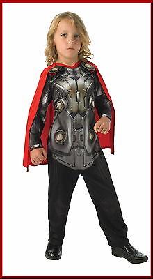 AVENGERS Kostüm THOR Overall+ Cape/Umhang Kinder 110 116 122 128  M L MARVEL