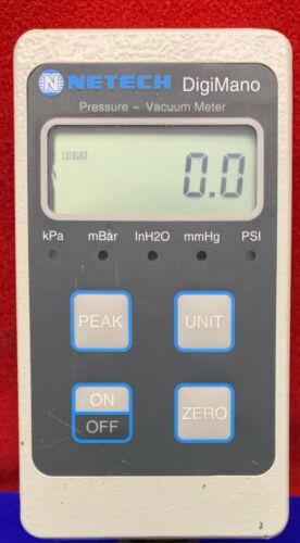 NETECH DIGIMANO DIGITAL PRESSURE VACUUM METER 220-25PSI