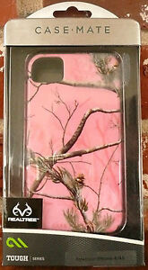 PINK CAMO CASE-MATE iPHONE CASE 4/4S Realtree Tough Series Protection  NEW