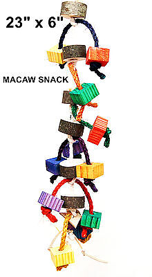Macaw Snack pet bird parrot toy parrot cage toys for macaw african grey cockatoo