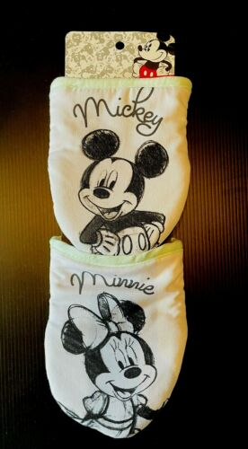 Disney Mickey Mouse Minnie Mouse 2 Oversized Mini Mitts Oven Gloves Mint Green