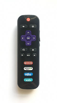New Hisense Replacement Roku TV Remote EN3A32 Netflix Amazon Rdio Vudu