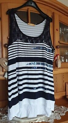 Schönes Shirt * Top Longtop mit Spitzenbesatz von Biba * Gr. XL  online kaufen