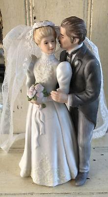 Vintage Enesco Wedding Cake Topper