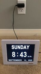 Dayclox – Memory Loss Digital Calendar Day Clock with Extra Large Letters