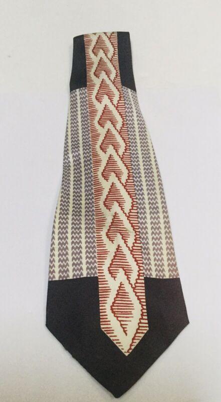 Vintage Mayers Park Avenue Aristocrat Cravat Necktie Tie Red Blue Diamonds