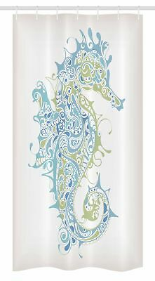 "Ocean Stall Shower Curtain Greek Spiritual Seahorse Print for Bathroom 36""x72"""