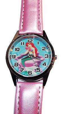 Disney's Arielle, die Kleine Meerjungfrau Quarz Uhrwerk Leder Armbanduhr ()