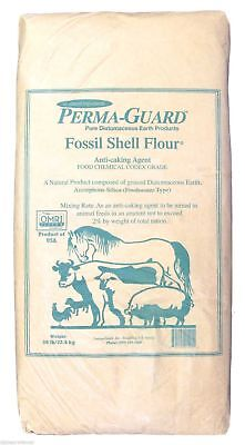 Natural Food Grade Diatomaceous Earth 50 Pounds LB, By Perma-Guard Dog Supplies