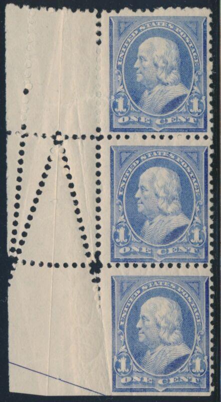 #246 Var. 1¢ Ben Franklin Str/3 W/ Major Fold-over Error Br5881