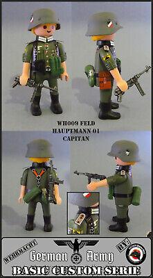 Playmobil Custom WW2 CAPITAN Ejército ALEMAN 2 GUERRA MUNDIAL SOLDADO GERMAN ACW