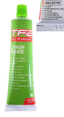 Weldtite Tf2 Lithium Grease 40G Lubricant Tube Bike Cycle Bearing Hub Bmx Fixie