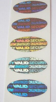 100 Security Warranty Void Svag Oval Hologram Protection Stickers Labels Seals